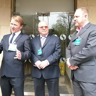 Rob Cooze (left to right), Mike Betson and Nicholas Thomas are part of group of 18 men launching a pay discrimination case against their employers University of Wales, Trinity St Davids