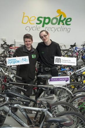 Transport for Greater Manchester initiative has hundreds of bikes ready to help jobseekers get back to work