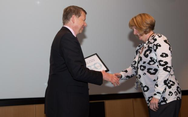 Jane Booker with Bill Turnbull