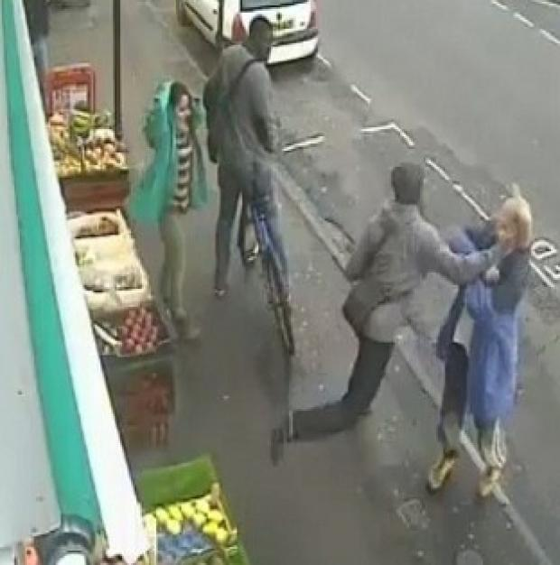 Messenger Newspapers: CCTV image of the moment Andrew Young was killed with a single punch by Lewis Gill, whose jail sentence is to be reviewed (PA/Dorset Police)