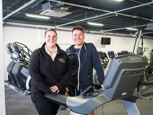 Pure Gym's Sarah Hagan and Altrincham HQ's Alex McCann