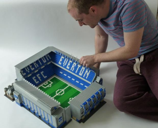 Messenger Newspapers: Chris Smith with his Goodison Park stadium