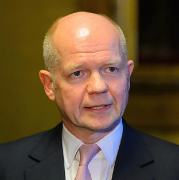 Messenger Newspapers: William Hague has dismissed weekend referendum votes staged by pro-Russian separatists in eastern Ukraine