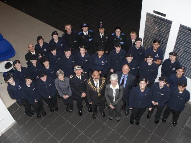 The Trafford police cadets at their passing out ceremony