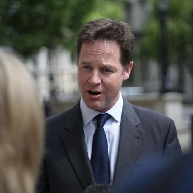 Messenger Newspapers: Nick Clegg is being urged by members of his own party to step down as leader of the Lib Dems