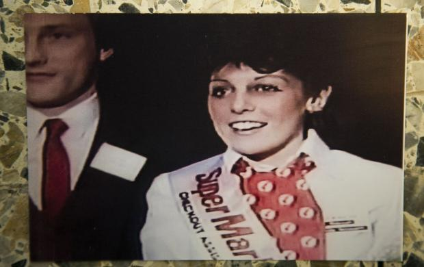 Messenger Newspapers: Picture of Diane taken at her 1983 national victory as fastest checkout operator