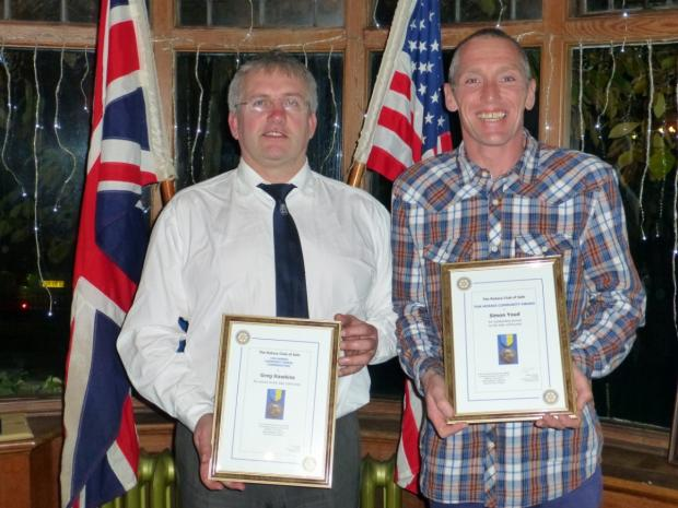 Last year's winner Simon Youd (right) and commendation recipient Greg Hawkins