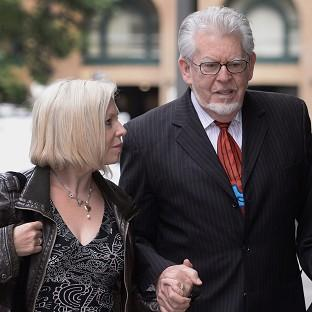 Rolf Harris arrives at Southwark Crown Court with daught