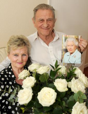 Roy and Vera Brown with their card from the Queen