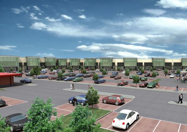 Artist's impression of the revamped White City retail park
