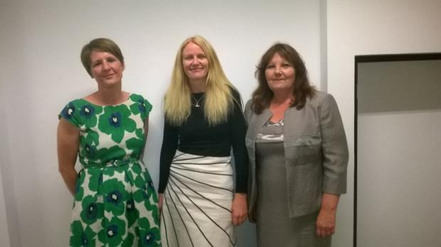 Labour's three Broadheath councillors, Louise Dagnall, Helen Boyle and Denise Western