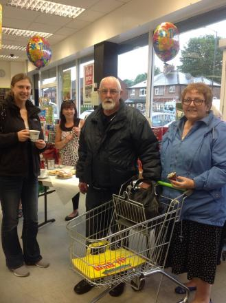 Staff and customers share 'a brew' to raise cash