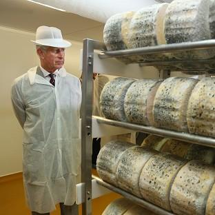 Charles visited a cheesemaker during his tour of Wales