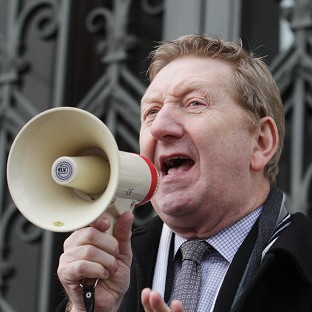 Unite's general secretary Len McCluskey has pledged his full support to Labour