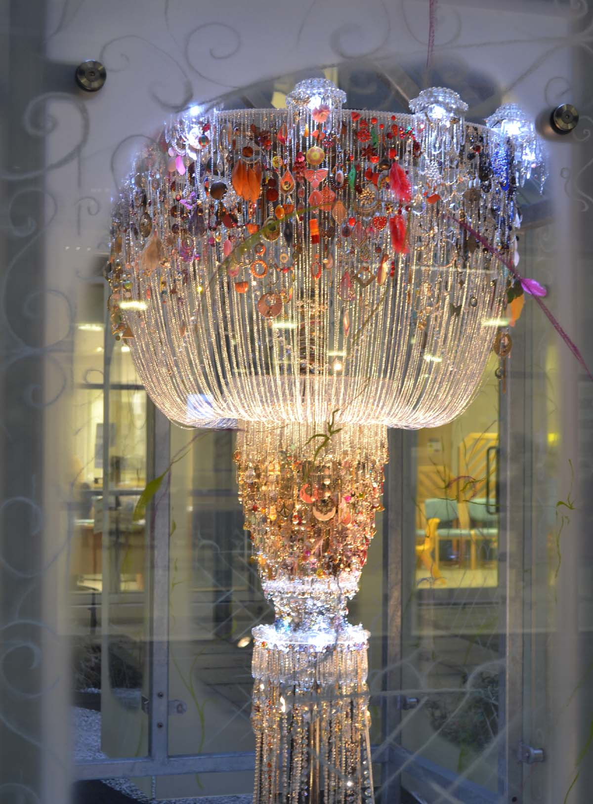 Manchester artists in running for £2,000 prize with chandelier made of earrings