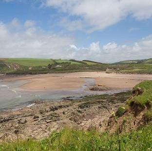 Messenger Newspapers: The view from the coast towards Bantham beach