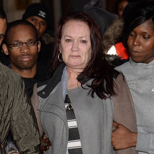 Mark Duggan's mother (centre) is challenging the verdict