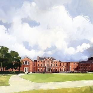 Messenger Newspapers: Undated handout artists impression issued by the Ministry of Defence (MoD) of the north facade of the planned new Defence and National Rehabilitation Centre (DNRC) at Stanford Hall near Loughborough