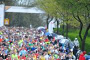 Runners at the start of a previous Greater Manchester Marathon