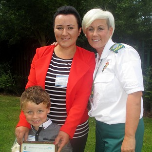 Boy, 4, calls 999  to save mother