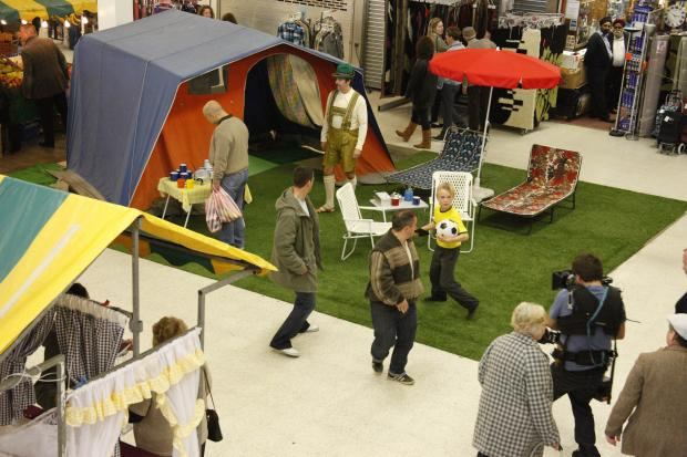 Lights, camera, action - a scene from Believe shot in Stretford Mall