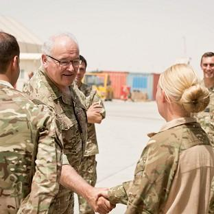 General Sir Peter Wall meets servicemen and