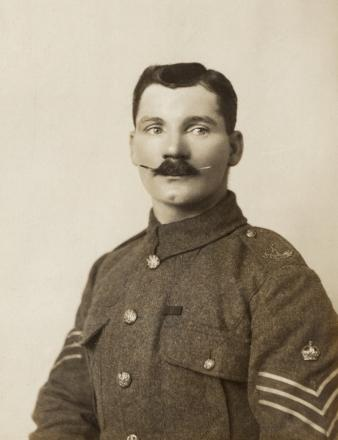 Frank Mundy - one of the Trafford soldiers featured in the exhibition