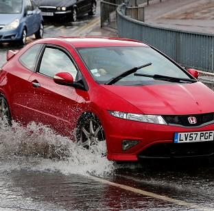 A flash flood caused problems for motorists