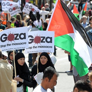 Marchers demand end to Gaza bombing