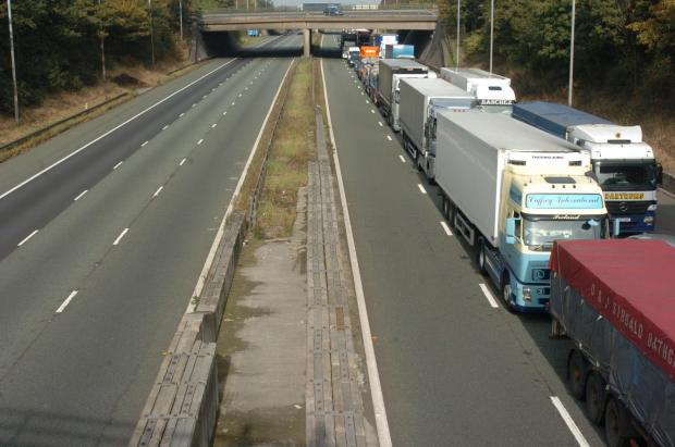 A closed motorway was a regular problem for Trafford drivers