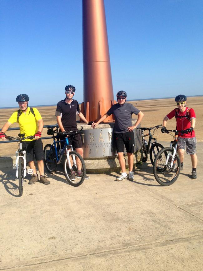 Gascoigne Halman estate agents tackle their Trans Pennine Trail challenge. From left are John Martin, Richard Leece, James Coppock and Nathan Fitzpatrick