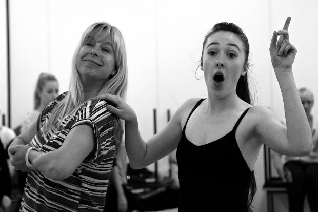 Pictured are Dawn Flint (left) as Mama Rose and Megan-Hollie Robertson (right) as Louise - photo by Adam Gonet