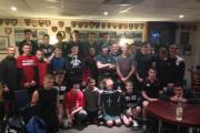 Trafford MV youngsters with the Royal Marines