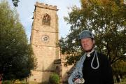 Myles Owen, curate of St Mary's in Bowdon will abseil down the church tower on Sunday in support of the Foundation for Relief and Reconciliation in the Middle East