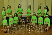 Lovely movers - the FAPA dancers with their trophy haul