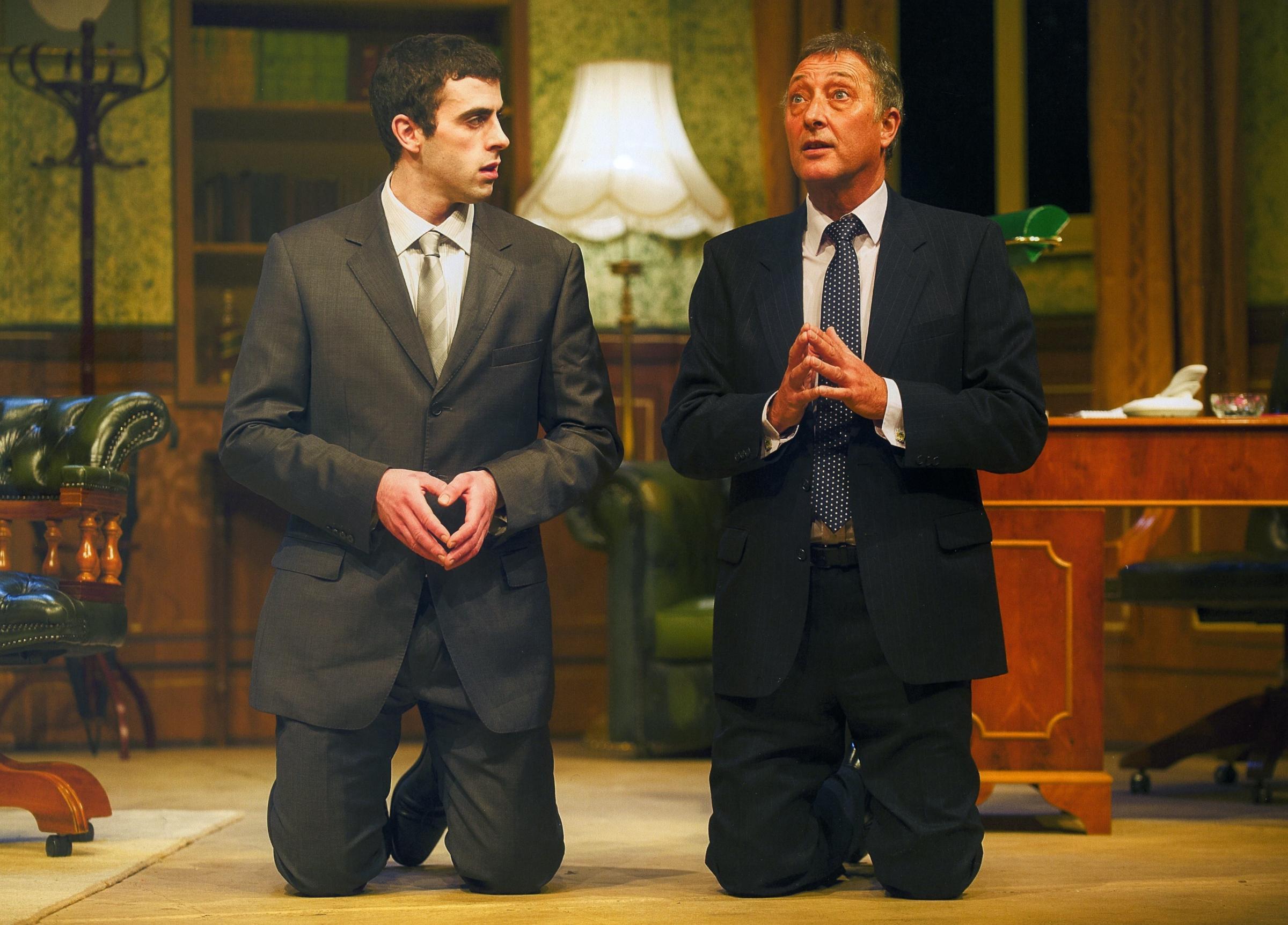In need of divine help - Daniel Ferguson as Bernard Wooley and Malcolm Cooper as Jim Hacker