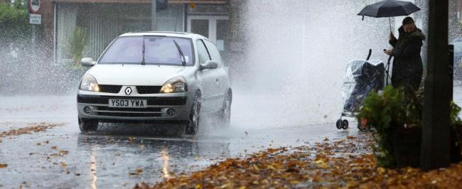 Puddle-splashing drivers slammed