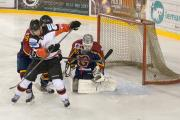 Robin Kovar tips the puck in for Phoenix's second goal. Picture by Richard Amor-Allan