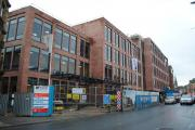 The new hospital under construction in Altrincham which is due to open in late April.