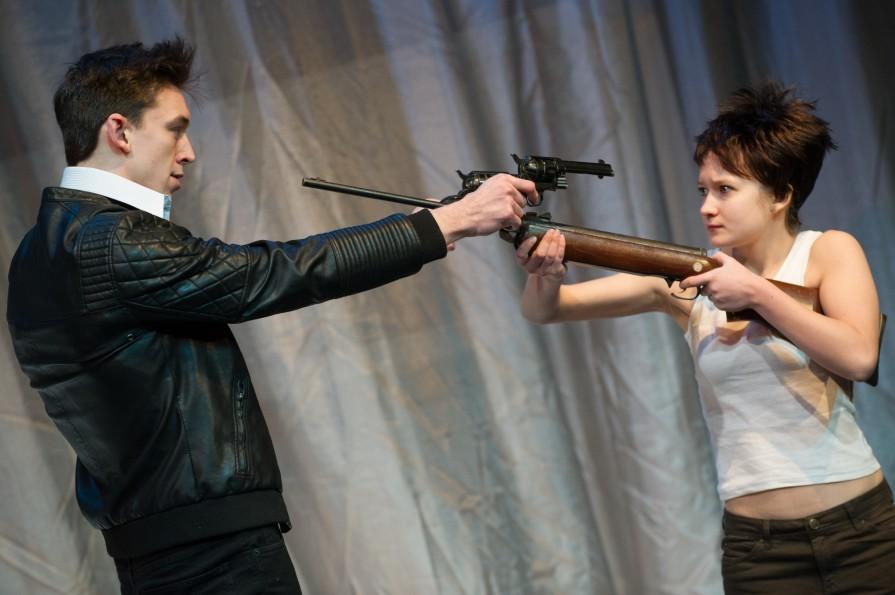 : Adam Gonet (Padraic) and Megan Johnstone (Mairead). Photo by Vishal Sharma.