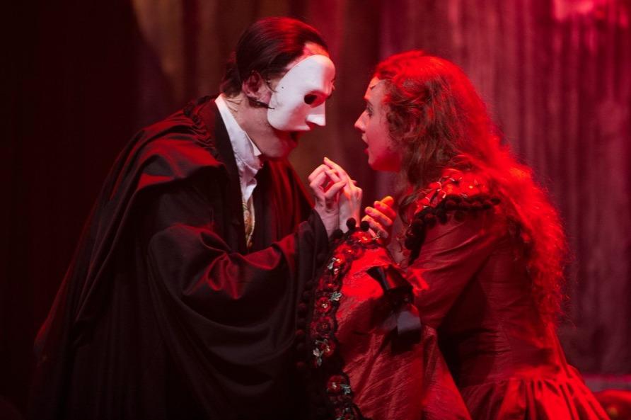 Magical moment - Chris Wagstaff as the Phantom and Jessica Heaps as Christine