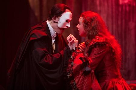 Magical moment - Chris Wagstaff as the Phantom and Jessica Heaps as Christine