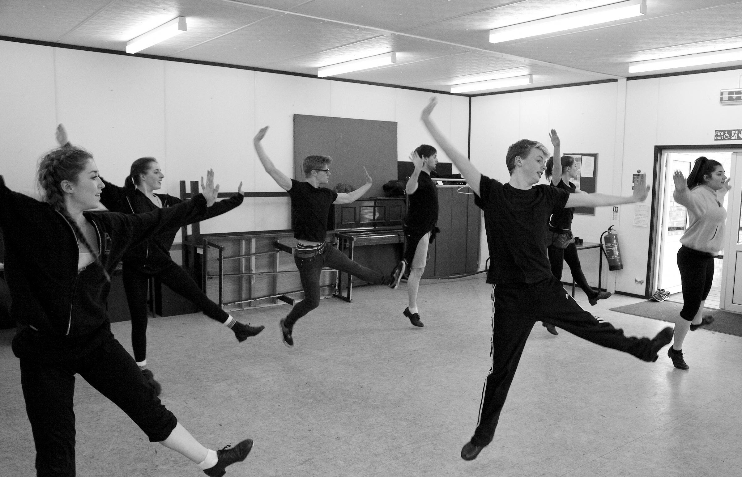 Dancing feat - 42nd Street in rehearsal - photo by Adam Gonet