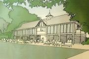 An artist's impression of the new library and community centre proposed for Hale