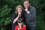 Pictured are Lynne Manifould, Nick Liddell and James Bricknell, aged eight