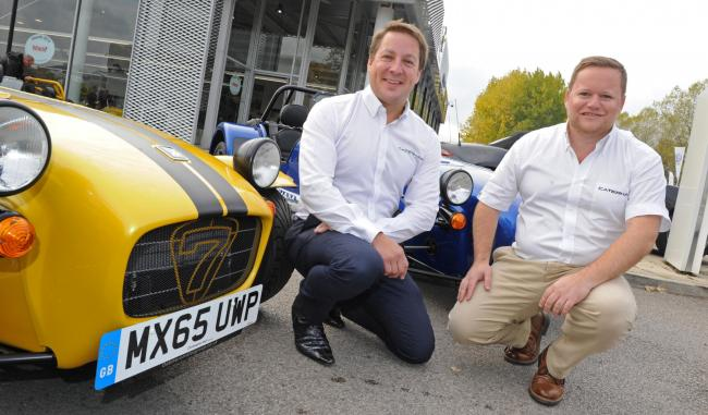 Jonathan Jarratt and David Ridley at the Oakmere Motor Group in Northwich