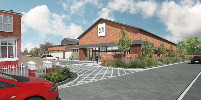 The proposed Sale Moor discount foodstore