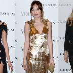 Messenger Newspapers: Strike a pose: Dakota Johnson, Karlie Kloss and Suki Waterhouse looked stunning at the Vogue 100 launch event