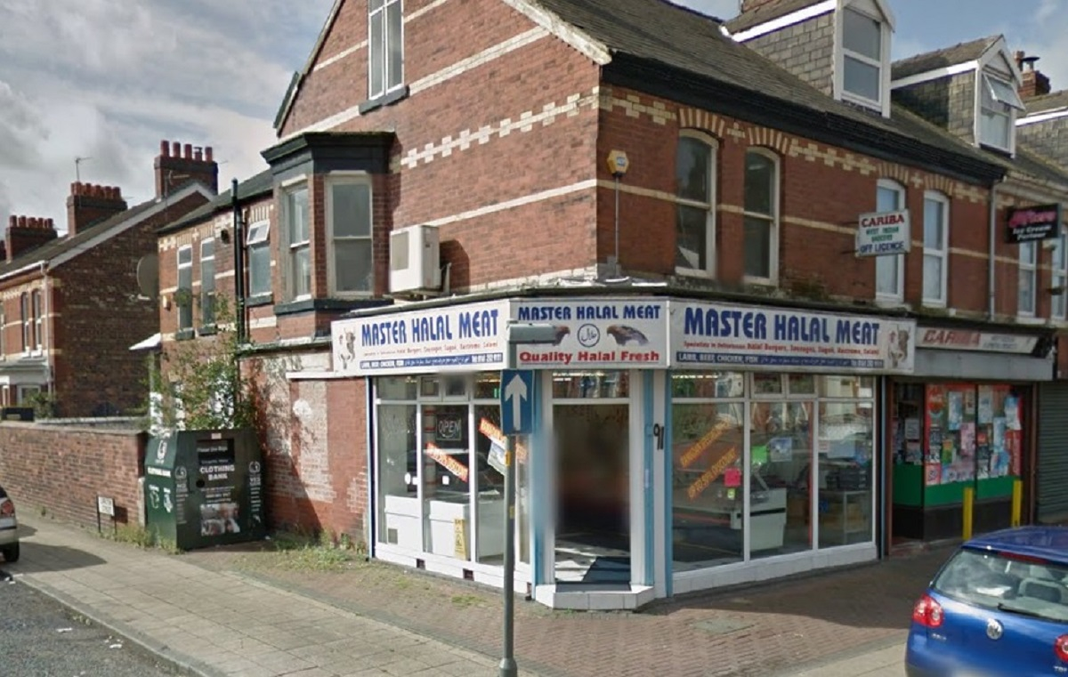 Master Halal Meat, in Ayres Road, Old Trafford, has been found guilty of food fraud.  Photo: Google Maps
