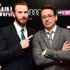 Messenger Newspapers: Robert Downey Jr and Chris Evans visit Avengers fan with cancer